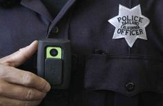 A strong movement right now is for police to wear body cameras like this (AM).