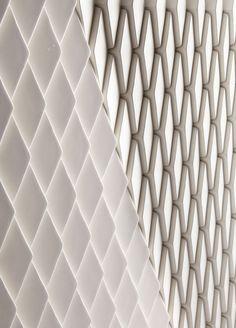 Innovative Pixel-like Surface Designs By Giles Miller Studio - Wellington Tile (ceramic)