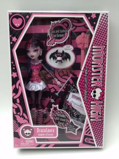 DRACULAURA Monster High Doll 1st Edition 2009 1st Wave, NEW Dracula Vampire  #Mattel