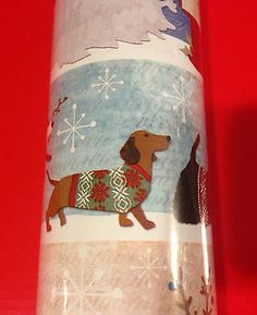 Blue Roll Dachshund Themed Holiday Wrapping Paper to Benefit Dare Rescue | eBay