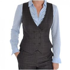 Ted Baker Volo Power Suit Waistcoat In Brown WA1W/GF42 - Excel Clothing