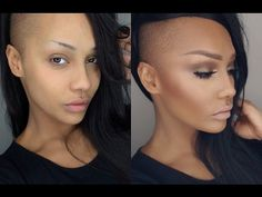 Start To Finish - Soft Contour Highlight Smokey Eye Makeup Tutorial - Urban Gyal Black Girl Makeup, Girls Makeup, Contour Makeup, Contouring And Highlighting, Learn Makeup, Brunette Makeup, Smokey Eye Makeup Tutorial, Minimal Makeup, Pin Up Hair