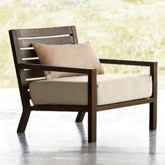 Tillary Outdoor Lounge Chair - modern - outdoor chairs - West Elm