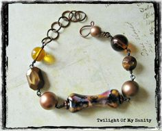 Dark brown bracelet from Twilight of My Sanity jewelry by DaWanda.com