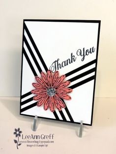 Daisy Delight Black Strips - SU - used strips of Black CS Homemade Greeting Cards, Hand Made Greeting Cards, Greeting Cards Handmade, Daisy Delight Stampin' Up, Washi Tape Cards, Stamping Up Cards, Get Well Cards, Card Sketches, Paper Cards