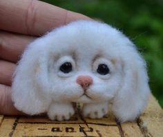 Funny Dog Stuffed Handmade Neede Felted Brooch Artist Wool Miniature 2in #Handmade