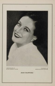 1927 Silent Film Movie Star Joan Crawford MGM Print - ORIGINAL