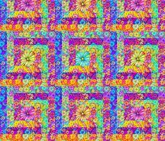 CHEATER QUILT BLOSSOM fabric by paysmage on Spoonflower - custom fabric
