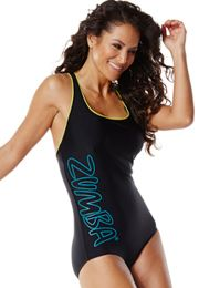 Rock With Me Ultraback One Piece With Piping | Zumba Wear