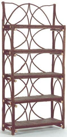 Bent twig shelf