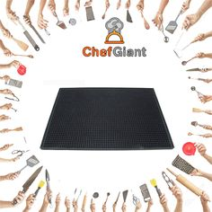 ChefGiant Large Rubber Bar Service Spill Mat - 18 x 12 inches  #ChefGiant #KitchenAccessories #Cookware #ServiceMat