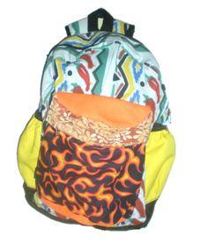 mochilas divertidas a puro fuego