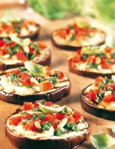 Pizzette di melanzane al pesto - Tutte le ricette dalla A alla Z - Cucina Naturale - Ricette, Menu, Diete