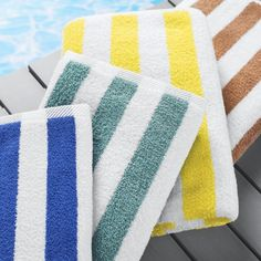 Splash Stripe Pool Towel Towels Beach Stripes Spa Catalog