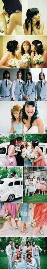 colorful vintage bridesmaid dresses IN LOVE
