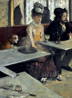 An even rarer Absinthe and dog painting.