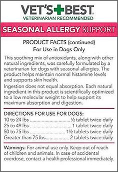 Dog Allergy Supplements