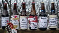 "A ""beery"" cute Valentine gift for the man in your life!"