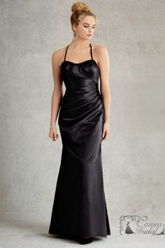 Wedding Dresses, Bridesmaid Dresses, Prom Dresses and Bridal Dresses Jordan Couture Bridesmaid Dresses - Style 1501 - Jordan Couture Bridesmaid Dresses, Fall Fit and flare satin gown with draped bodice and lace back. Shown In: Black Satin Bridesmaids Gowns, Couture Bridesmaid Dresses, Taffeta Bridesmaid Dress, Bridal Dresses, Bridesmaid Dresses Ireland, Black Bridesmaid Dresses, Homecoming Dresses, Divas, Discount Bridal Gowns