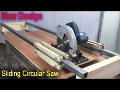 Perfect Sliding Circular Saw Cutting Station New Design Linear Bearings - Plywood Cutting Machine Circular Saw Track, Circular Saw Jig, Sierra Circular, Best Circular Saw, Woodworking Workbench, Woodworking Projects Plans, Metal Fabrication Tools, Diy Furniture Videos, Diy Table Saw
