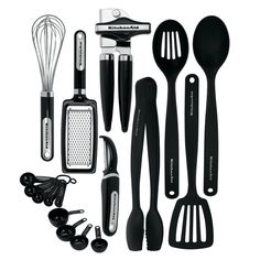 Classic KitchenAid 17-piece Tools and Gadget Black  Set