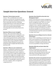Sample Resume Questions 16 Best Sample Resumes, Cover Letters And Interview  Questions .