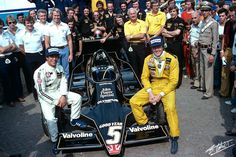 Mario Andretti and Ronnie Peterson, John Player Team Lotus, Monza, September, 1978.