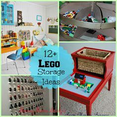 homey home design: Lego Storage Ideas Lego Storage, Kids Storage, Storage Ideas, Lego Table, Lego Room, Toy Organization, Legos, Kids Corner, Diy For Kids