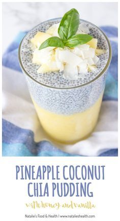 Chia seeds are delicious and oh-so healthy. Throw some in your morning routine asap! Enjoy these 50 creative chia seed recipes! Pineapple Coconut Chia Pudding Refreshing and rich in tropical fla… Good Healthy Recipes, Healthy Drinks, Gourmet Recipes, Healthy Snacks, Healthy Eating, Nutrition Drinks, Vegan Recipes, Keto Chia Seed Recipes, Child Nutrition