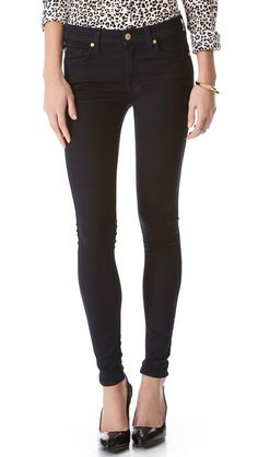 7 For All Mankind The Slim Illusion Skinny Jeans in Color: Elasticity Clean Blue - $189.00