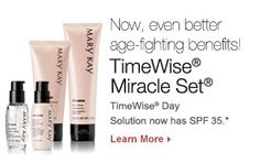 Now even better age-fighting benefits with the timewise miracle set! Contact Autumn Swanhart to order yours now! Please repin! #marykay #timewise #miracleset