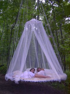 Could totally make this with a trampoline.