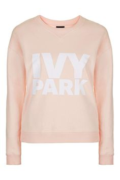 Logo Crew Neck Sweatshirt by Ivy Park - Clothing- Topshop