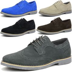 332dfa78529378 Alpine Swiss Beau Mens Dress Shoes Genuine Suede Wing Tip Brogue Lace Up  Oxfords  shoes