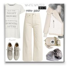 """Winter White"" by ragnh-mjos on Polyvore featuring Wildfox, Brock Collection, Fear of God, Edge Only, Black and vintage"