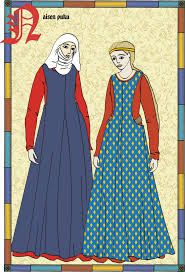 The women might have dressed like this. Unmarried girls would not need to cover their heads.