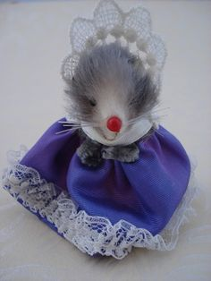 Vintage Mouse Original Fur Toys Made in W by DimestoreKitsch, $10.50