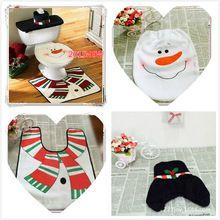 sneeuwpop ornamenten badkamer toilet seat cover set kerst decoratie artikelen enfeites producten levert de noel papai natal