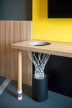 Read all about the metamorphosis of 'Carlton de Brug' into HUP, the most athletic hotel of the Netherlands. Boys Room Design, Hotel Room Design, Boys Room Decor, Kids Bedroom, Bedroom Decor, Soccer Room Decor, Basketball Room, Room Inspiration, Bakery Design