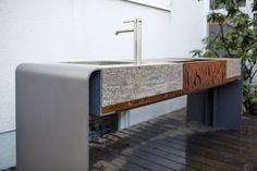 Outdoor Küche Block : Stein holz stahl u küchen für drinnen und draußen am s bahnhof