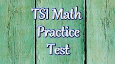 TSI Math Review Practice Test - Texas Success Initiative