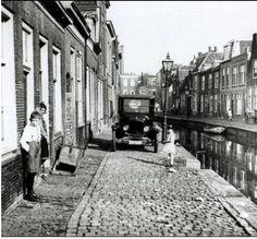 Uiterste Gracht Leiden rond 1930