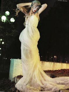 "Siri Tollerød in ""Dame Blanche"" by Sofia Sanchez & Mauro Mongiello for Numéro #89."
