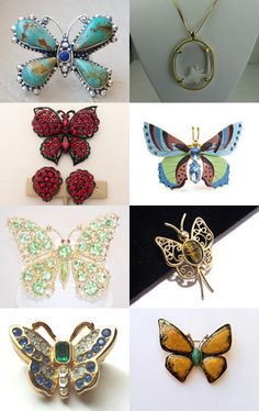 Butterflies - Vintage Jewelry from Vjt by moonbeam0923 on Etsy--Pinned with TreasuryPin.com