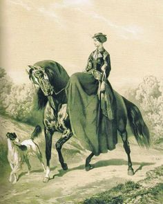 In the Swan's Shadow: Balancine, before 1860  Equestrian riding habit