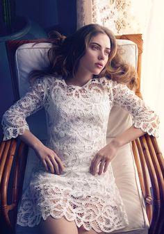 White lace dress from Mango