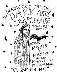 Prints, pins and patches are packed & @jamiemooers & I have been working non stop on @burialground jewelry! Can't wait for this weekend of selling with @deadwicks and hanging with so many amazing artists and makers. If you're in the Portsmouth area come by and say hello! (Check out a few posts back for the flyer with all of the vendors listed) I'll be here donned in krampus horns Saturday and Sunday alllll day. 🥀🕷(pictured here is another little flyer I made for the event) 🦇🦇🦇