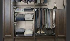 Closet Design | Tailored Living - pant rack lower down