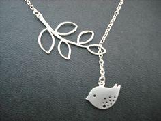 Little Mod Bird Lariat Necklace