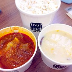 Soup Stock Tokyo@恵比寿にてテイクアウト - 7件のもぐもぐ - 東京ボルシチ&ホタテのクラムチャウダー by chan mitsu